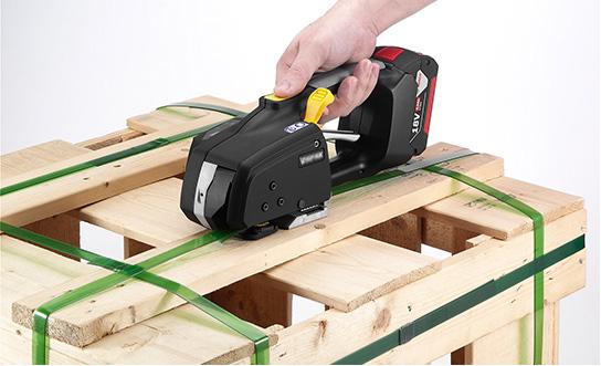 Flejadora para fleje de plástico Messersi MB620 12-16mm para fleje de PET y PP con batería y cargador 4