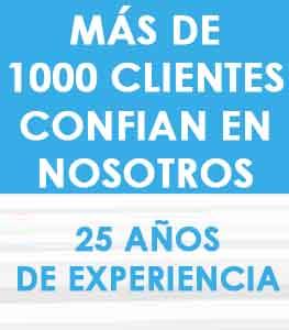 MÁS DE 1000 CLIENTES CONFIAN EN NOSOTROS 25 AÑOS DE EXPERIENCIA